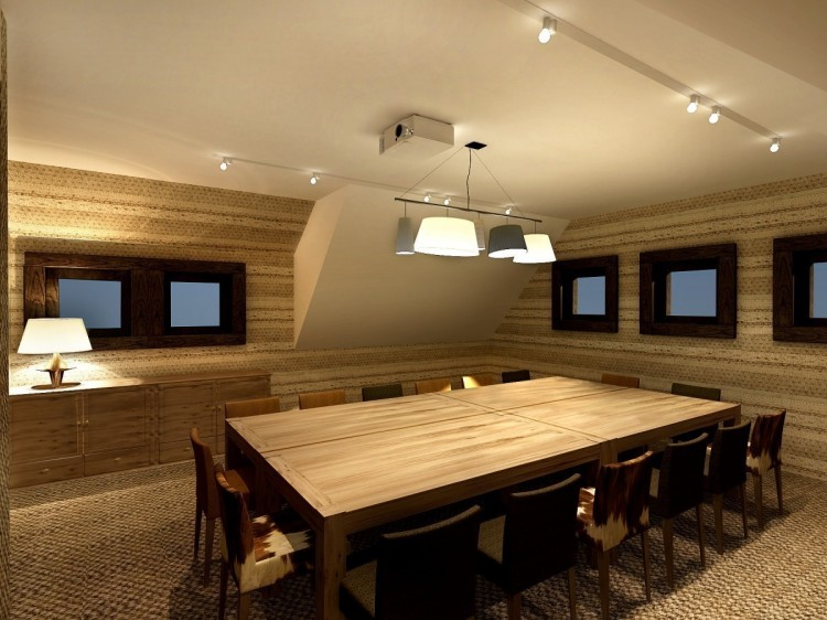meeting room in a chalet